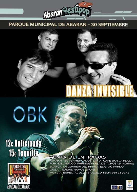 """Concierto DANZA INVISIBLE', y 'OBK"""" en AbaranFestipop"""